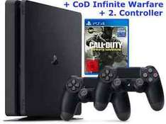 PS4 Bundle 1TB Slim + COD Infinite Warfare + 2. Controller nur 271,15€