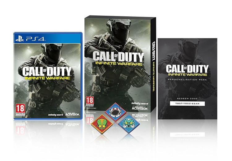 Amazon.uk Call Of Duty: Infinite Warfare w/ Zombie Pin Badges und Hellstorm DLC für PS4 u. XB1