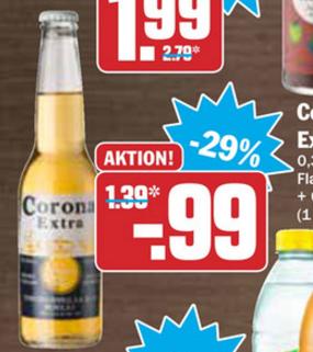 Corona Extra 0,355l für 0,99€ bei HIT