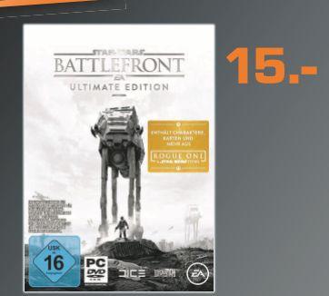 [Lokal Saturn Augsburg/Friedberg ab 24.11] Star Wars: Battlefront - Ultimate Edition (PC Version) für läppische 15,-€**Wenn am 25-26.11 noch verfügbar für 12,-€