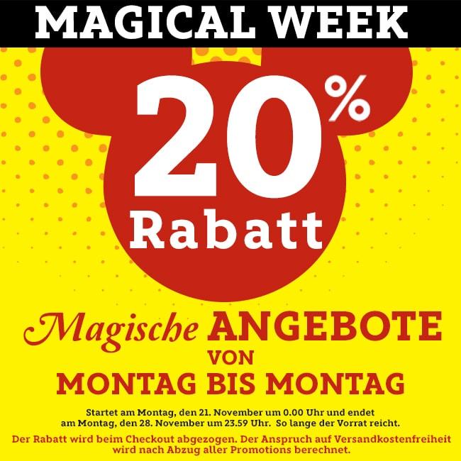 Gratis Mickey Maus Shopper ab 30€ MBW in der Magical Week @ Disney Store 20% Aktion