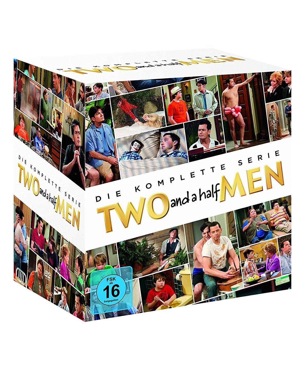 Two and a Half Men Komplettbox Staffeln 1 bis 12 (exklusiv bei Amazon.de) [40 DVDs] für 59,97€ statt 99,99€ + 1€ Amazon Video GS