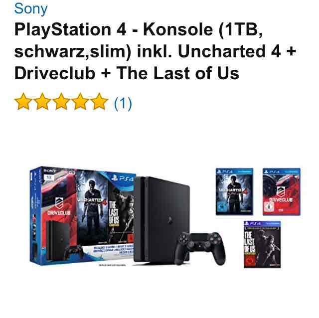 PS4 1TB mit 3 Games im Tagesangebot bei [Amazon]