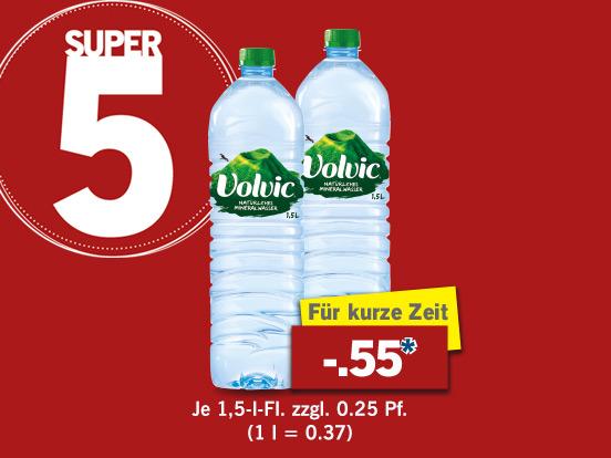 [Lidl] Volvic Naturelle 1,5l Flasche für 0,55€