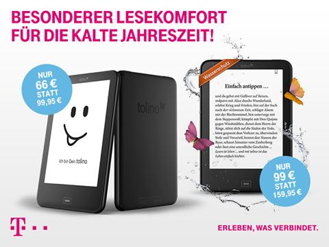 Tolino Vision 3 HD 99€ statt 138,99€ - Tolino Vision 2 für 66€ [Telekom Shop - nur offline]
