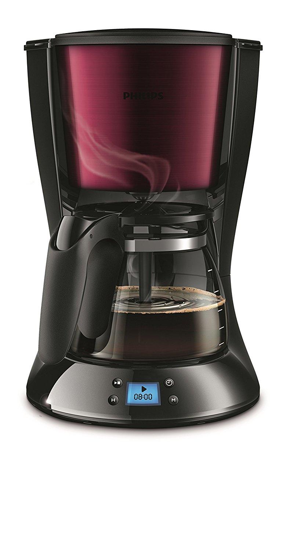 Filterkaffeemaschine Philips Daily Collection HD 7459/31, Timer, burgunder/schwarz für 23,85 € (Preisoptimierung möglich!) @ mömax.de