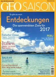 GEOSaison - das Reisemagazin im Jahresabo für 38€ durch 40€ Amazon-Gutschein oder Verrechnungsscheck