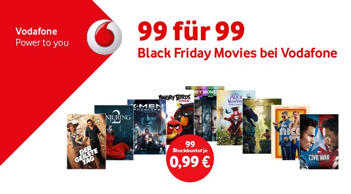 Black FrIday Movies bei Vodafone