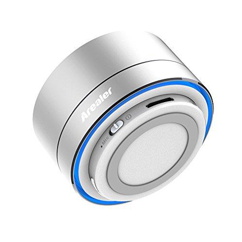 A10 Bluetooth Stereo Lautsprecher, Mini-Metall mit LED Lampe