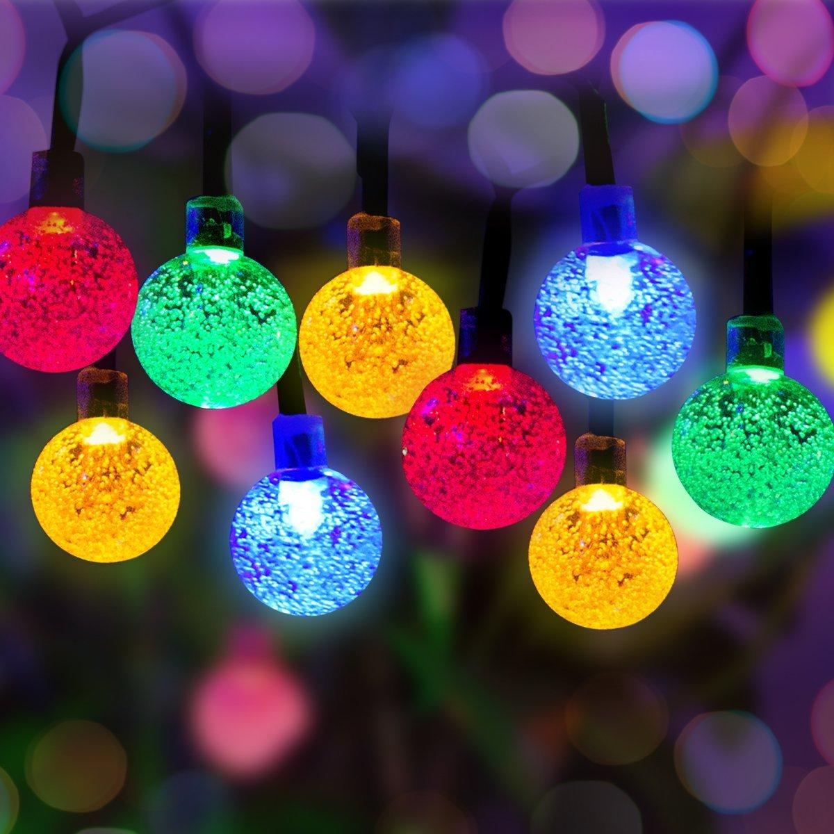 50 LED Wassertropfen Solar Lichterkette (Länge: 6.8m) für 10,99€