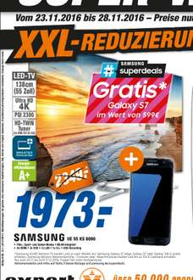 [lokal] Samsung UE55KS8090 TV Plus Samsung Galaxy S7 in Rastatt, Bühl und Lahr