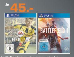 [[Lokal Saturn Düsseldorf/Neuss nur am  25.11 und 26.11] Battlefield 1 (PS4) und FIFA17 (PS4) für je 36,-€ (Durch 20% Aktion)