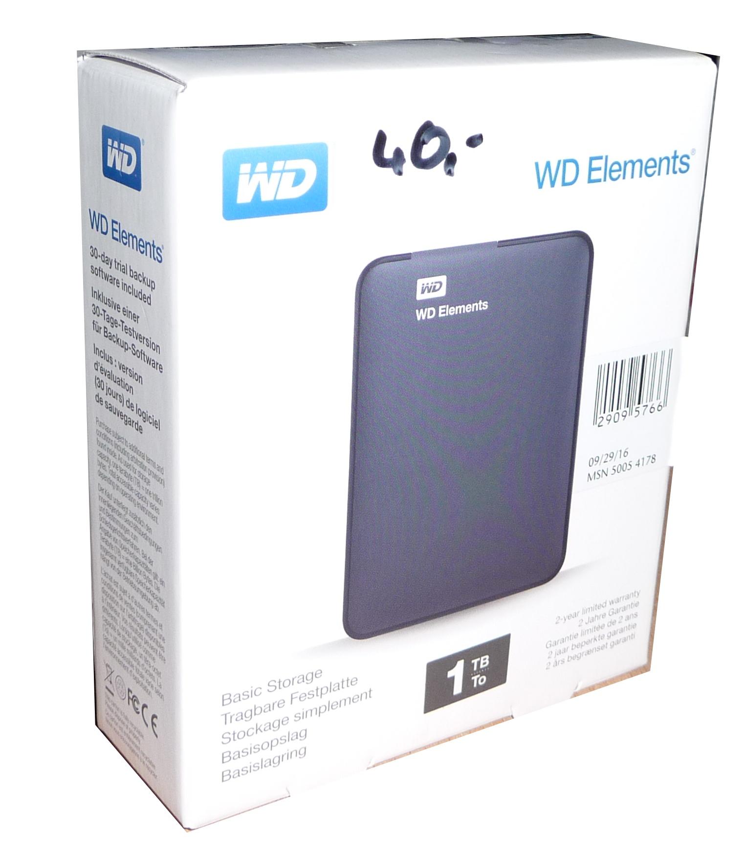 [Aldi Nord - Olpe] WD Elements 1TB USB3.0 für 40,-€