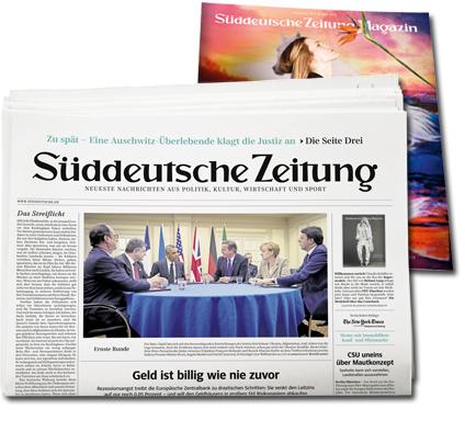 Süddeutsche Zeitung 50 Ausgaben für 50€ (selbstkündigend)