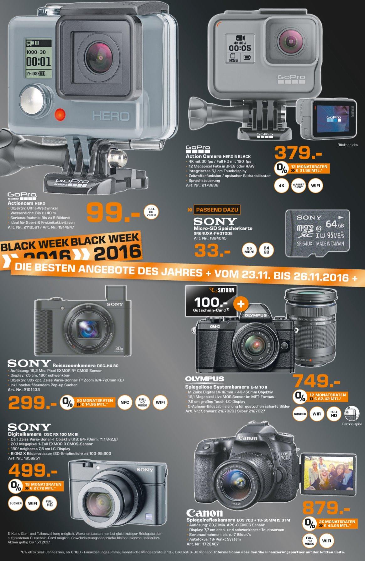 [SATURN-HH] Sony Cyber-Shot DSC-RX100 III Mark 3 M3 für 499€ [LOKAL]