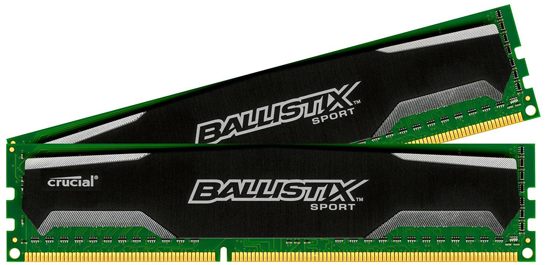Crucial Ballistix Sport DIMM Kit 16GB (2x 8GB) DDR3-1600 für 63,90€ [Amazon]