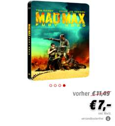 Media Markt online: Mad Max Fury Road Bluray Steelbook für 7€