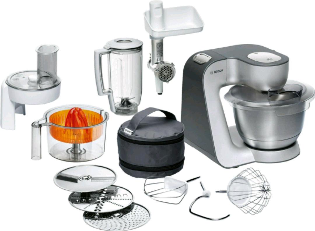 AMAZON:  Bosch MUM56340 Küchenmaschine Styline MUM5 (900 Watt, Edelstahl-Rührschüssel, Durchlaufschnitzler, Rühr-Schlagbesen und weiteres Zubehör) silber