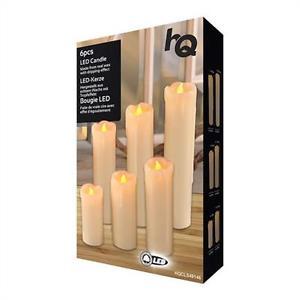 6 Stk. LED-Kerzen - Warmweiß aus echtem Wachs