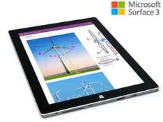 "(iBood.de) Microsoft Surface 3 Full HD 10,8"" Tablet – 32 GB, Certified Refurbished"