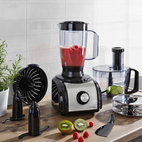 Gorenje Küchenmaschine SB800B, 1,5 Liter, 800 Watt, edelstahl-schwarz für 29,90 € (PVG ab ca.60/70 € aufwärts) @ mömax.de