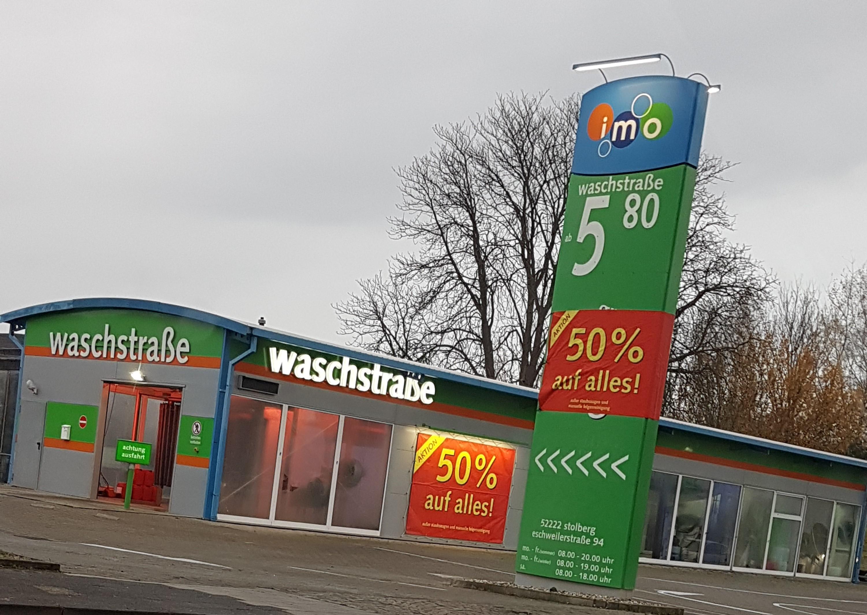 (LOKAL) 50% auf jede Autowäsche imo Eschweilerstr. 94 Stolberg(AC)