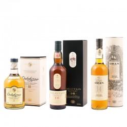 [Delinero] Whisky-Set aus Lagavulin 16, Dalwhinnie 15 und Oban 14 für 89,99 Euro inkl. Versand