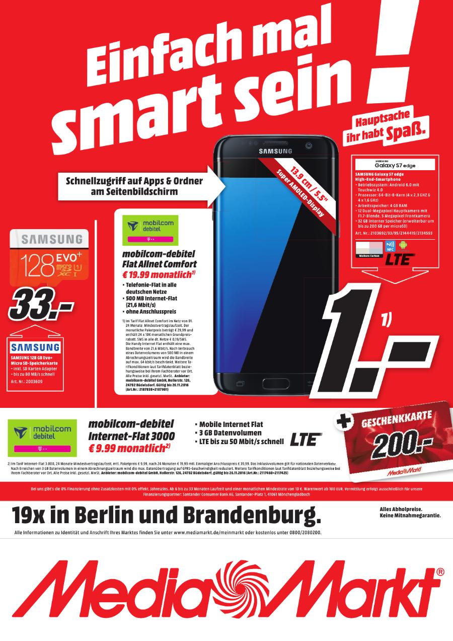 [Lokal - MM Potsdam ggf. B/ Brb] Telekom 3GB LTE Flat - Mobilcom-Debitel 24 Monate