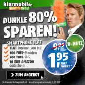 Kleiner Klarmobil Vodafone Vertrag für nur 1,95 € / Monat: 100 Freiminuten, 100 Frei-SMS und 500 MB UMTS *UPDATE*