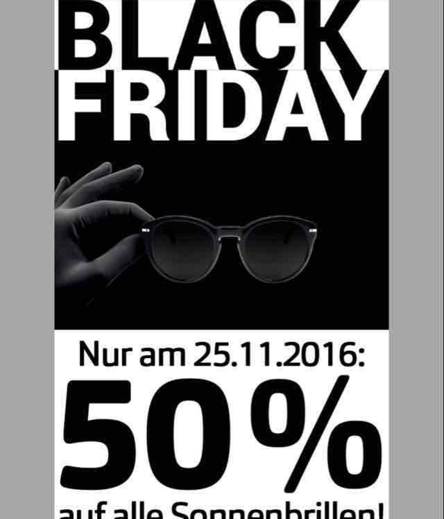 Apollo Optik 50% auf alle Sonnenbrillen am 25.11.16, d.h bei Fielmann zusätzlich 10% per Preisgarantie