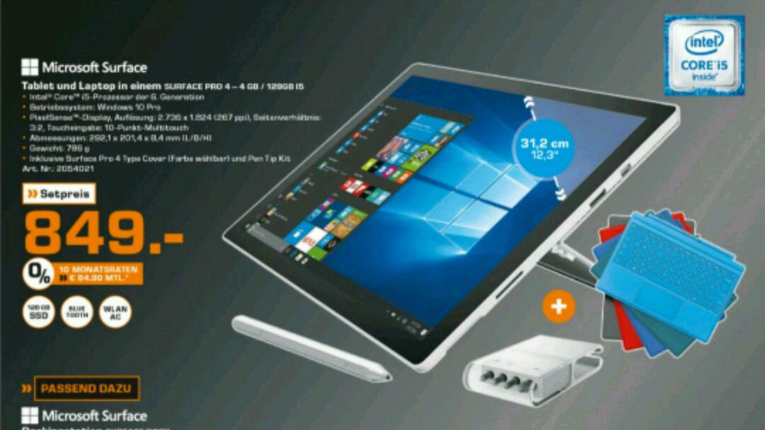 Saturn - Surface Pro 4 [ i5, 128Gb SSD] - + Tastatur & Surface Pen tip kit