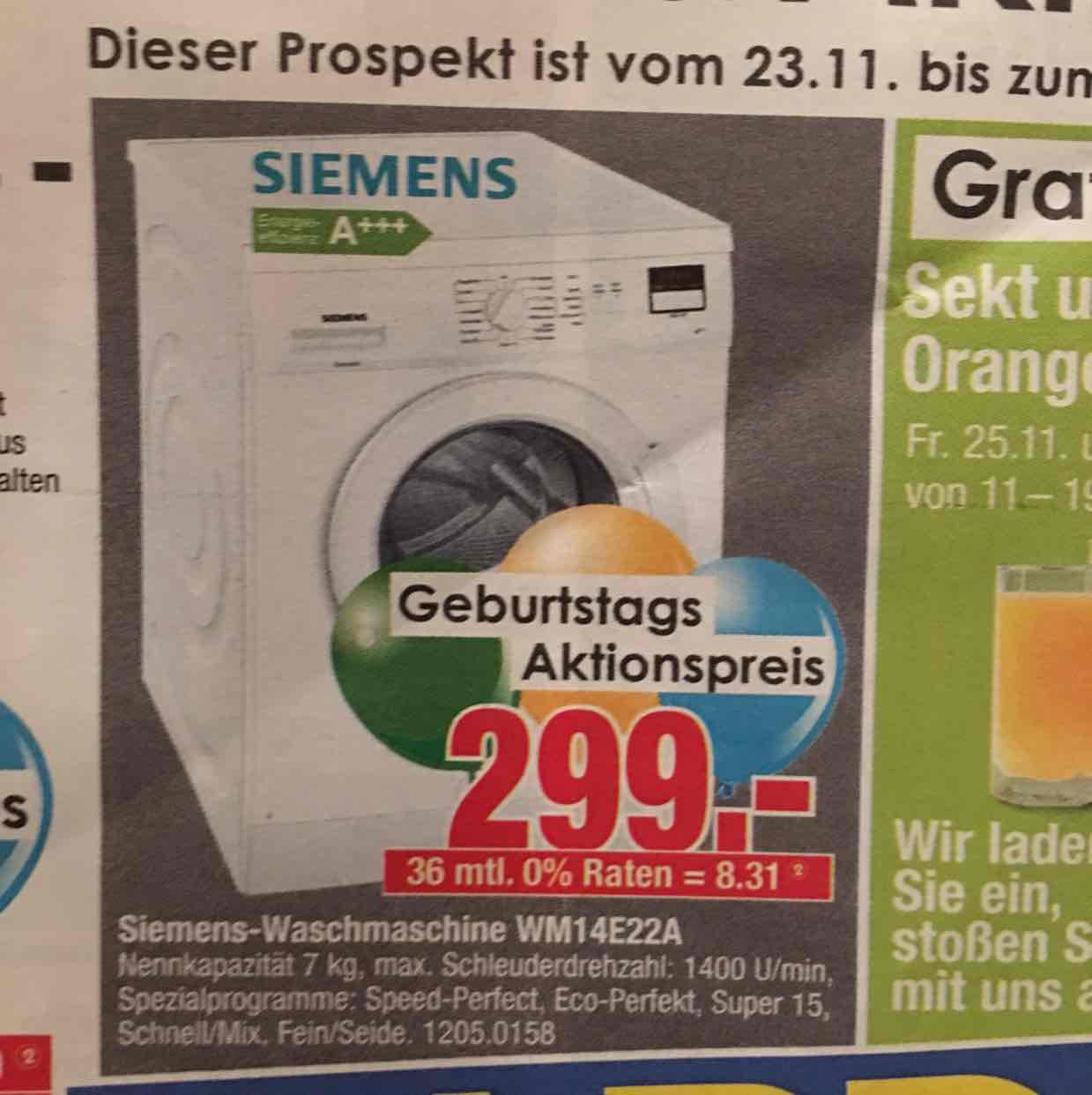 Lokal in Bochum Möbel hardeck Siemens Waschmaschine WM14E22A