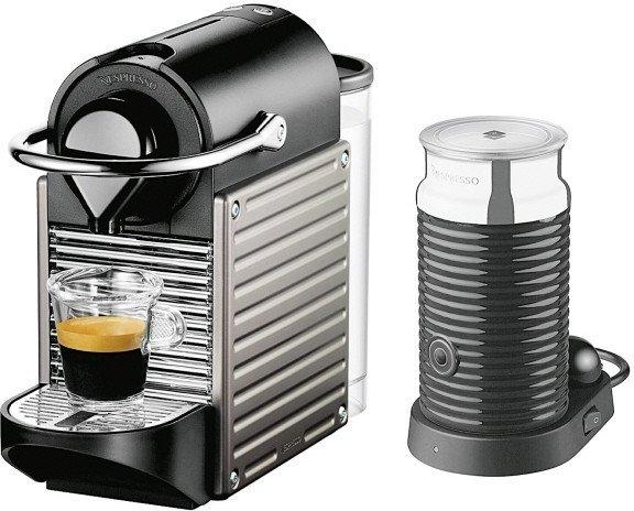 KRUPS Nespresso Pixie inklusive Milschaufschäumer + 100 Kapseln 33% unter idealo [Media Markt TSS]
