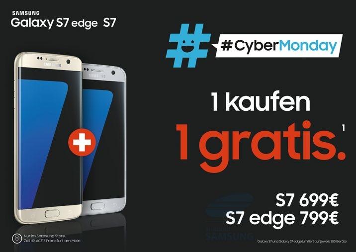 2 x Galaxy 7/7edge zum Preis von einem Samsung Store Frankfurt (Zeil)