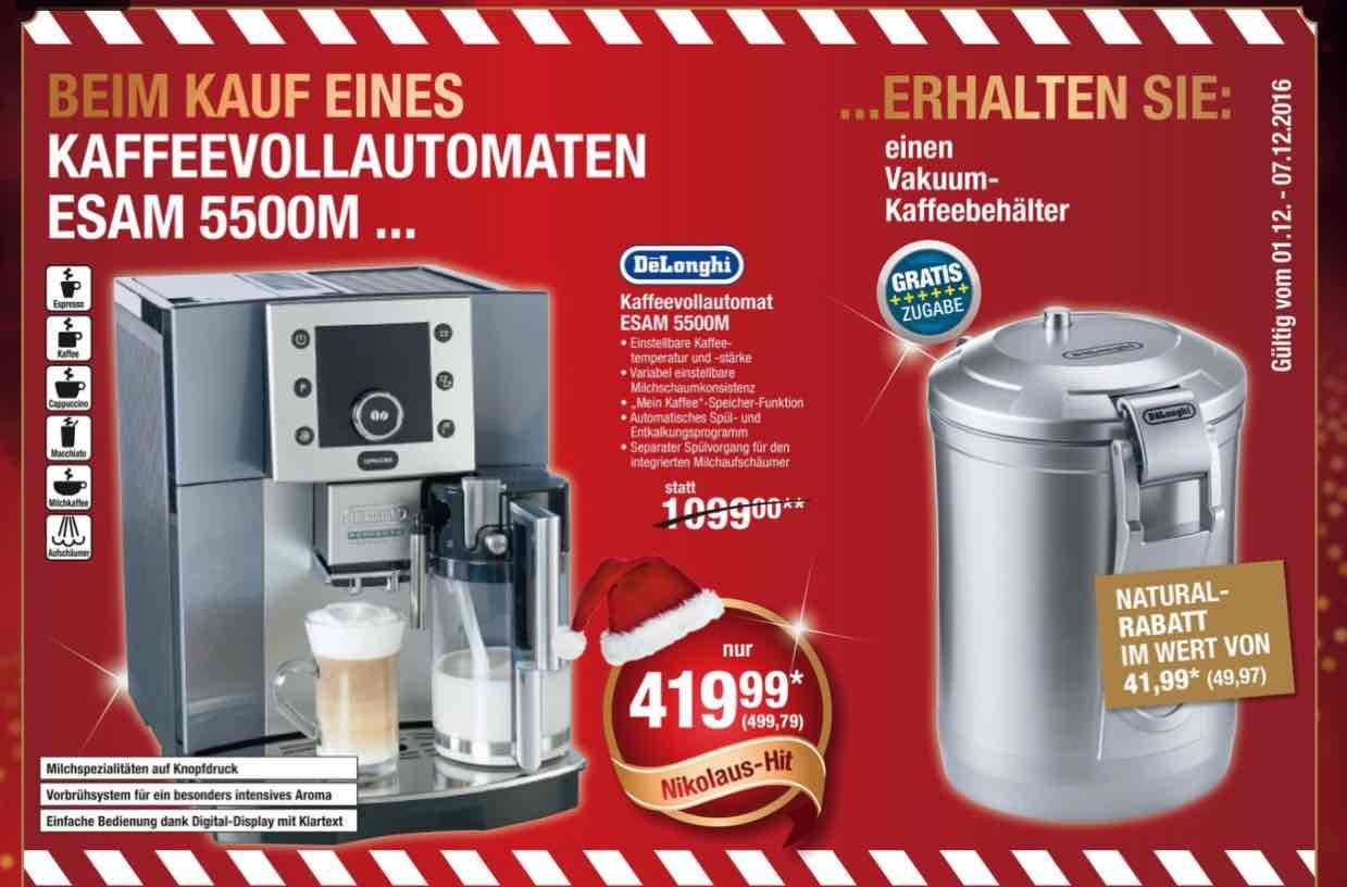 DeLonghi Kaffeevollautomat ESAM 5500 M + Vakuum Kaffeebehälter @Metro