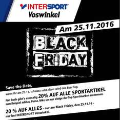 [Lokal] Berlin Alexa Intersport Black Friday 20% auf alles