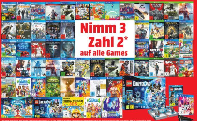 [Lokal Mediamarkt Paderborn] Nimm 3-Zahl 2 Aktion auf alle Games