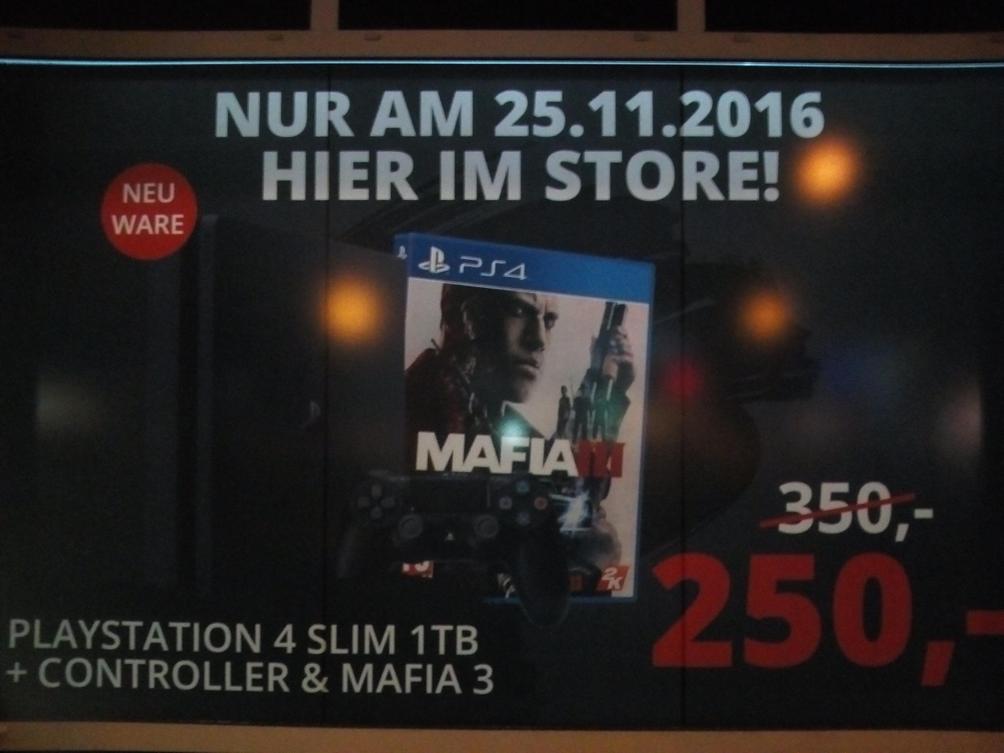 PS4 Slim 1TB + Mafia 3 - Nur am 25.11.2016 für 250 € [Lokal Bremen Innenstadt - Myswooop - Black Friday]