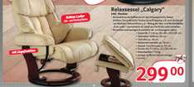 [Selgros | Gewerbe] MCA Relaxsessel Calgary für 355,81 (299,- Netto)