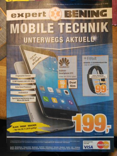 [Expert Bening] Huawei GT3 für 199 und Fitbit Alta für 99 (idealo 116)