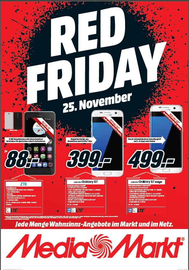 RED Friday - Mediamarkt Deutschlandweit (Galaxy S7 Weiß / Galaxy S7 Edge Weiß) @BF2016