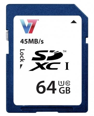 Rakuten: V7 SDXC 64GB Speicherkarte (UHS-I Class 10)