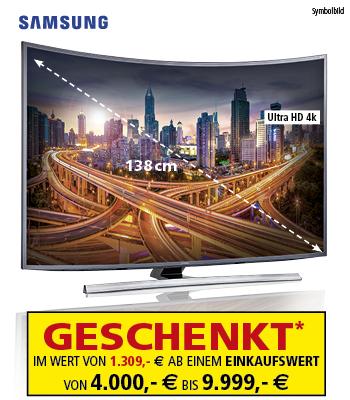 """[Segmüller] 4k UHD Samsung 55"""" Curve-TV ab 4.000€ Einkaufswert und weitere Angebote"""