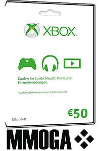 50 Euro Xbox live Guthaben für 43,19 durch Gutschein