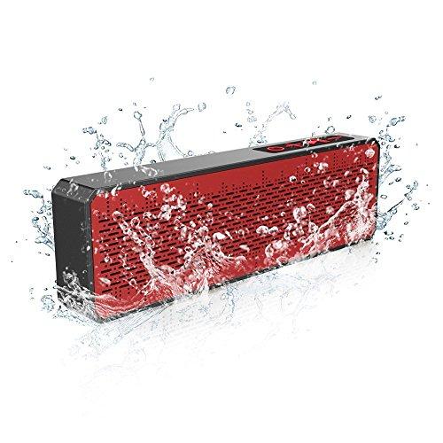 Tragbarer Bluetooth 4.0 Stereolautsprecher, Spritzwasserfest