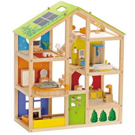 Hape Vierjahreszeitenhaus möbliert @ Babymarkt.de unter Einsatz eines 10 Euro Gutscheins