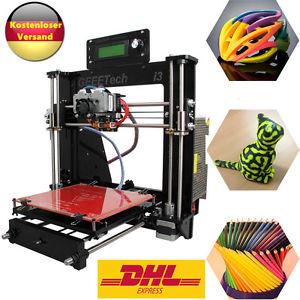 Acrylic Prusa I3 Extruder MK8 3D Drucker 3D Printer 5 Materials für 167,30€