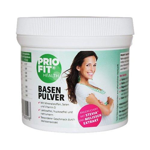PRIOFIT Nahrungsergänzungsmittel Basenpulver Stevia und Melissenextrakt 450g für 6,49€ inkl. VSK @Amazon