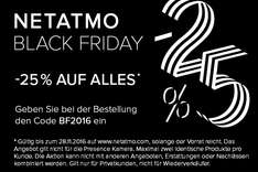 Netatmo Black Friday -25% auf alles!
