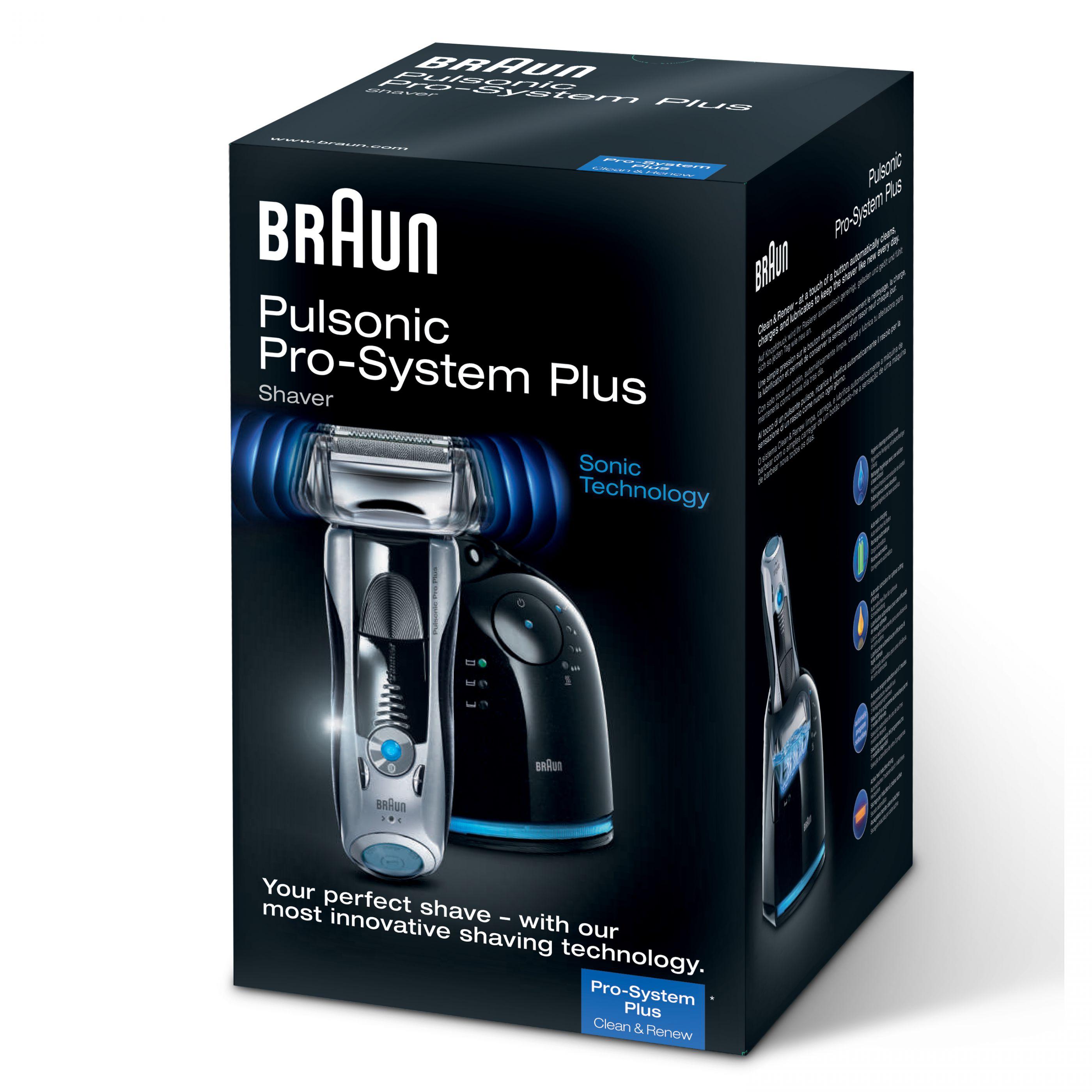 BRAUN Pulsonic Pro 745cc-3 Herrenrasierer für eff. 71 €